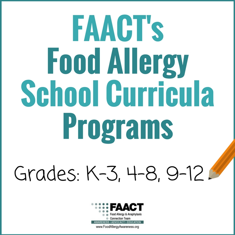 FAACT's Food Allergy Curricula Program for Schools