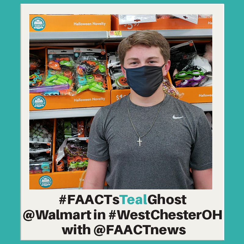 Show FAACT your FAACTs Teal Ghost selfie